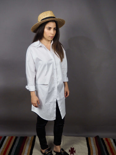 Oversized long white classic shirt Beautiful Ugly k fashion