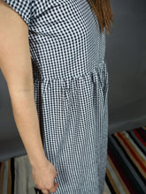 Blue and white checkered jumpsuit Beautiful Ugly k fashion