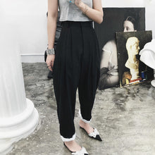 Pippa Pants Black high waist pants with contrast cuff and wide leg The Beautiful Ugly k fashion