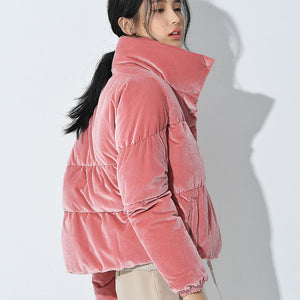 Pink padded puffer bomber jacket Beautiful Ugly k fashion