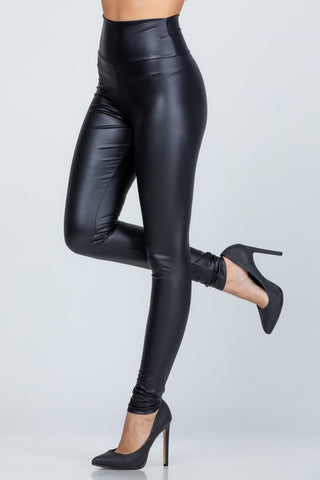 The Babe Leather Leggings