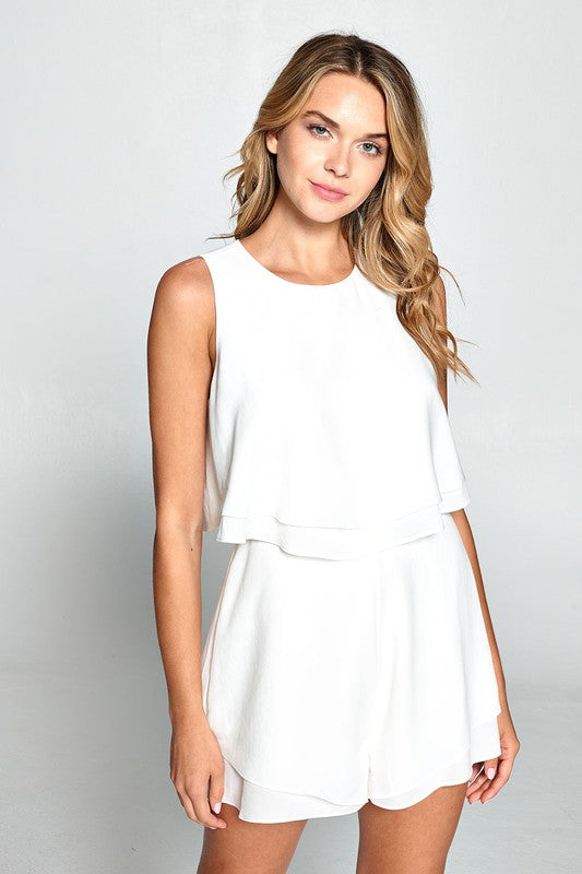 White Layer Romper