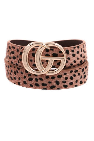 The GG Leopard Belt
