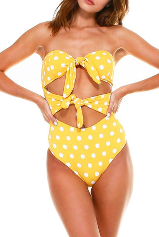 Yellow Polka Dot Suit
