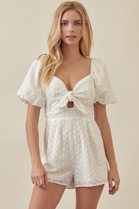 Sweetheart Puffy Slv Romper