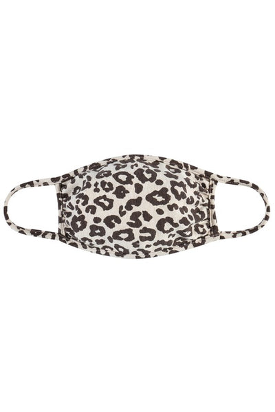 Taupe Leopard Face Mask