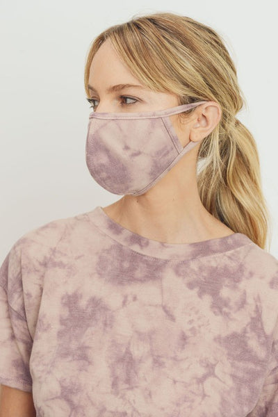 Tie Dye Terry Knit Face Mask