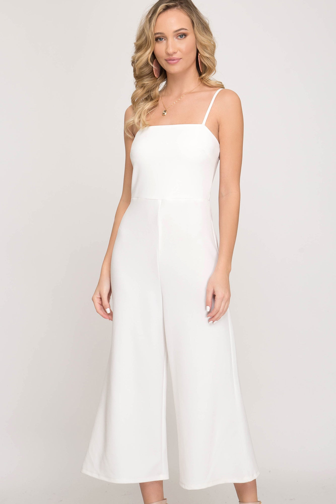 White Cami Jumpsuit