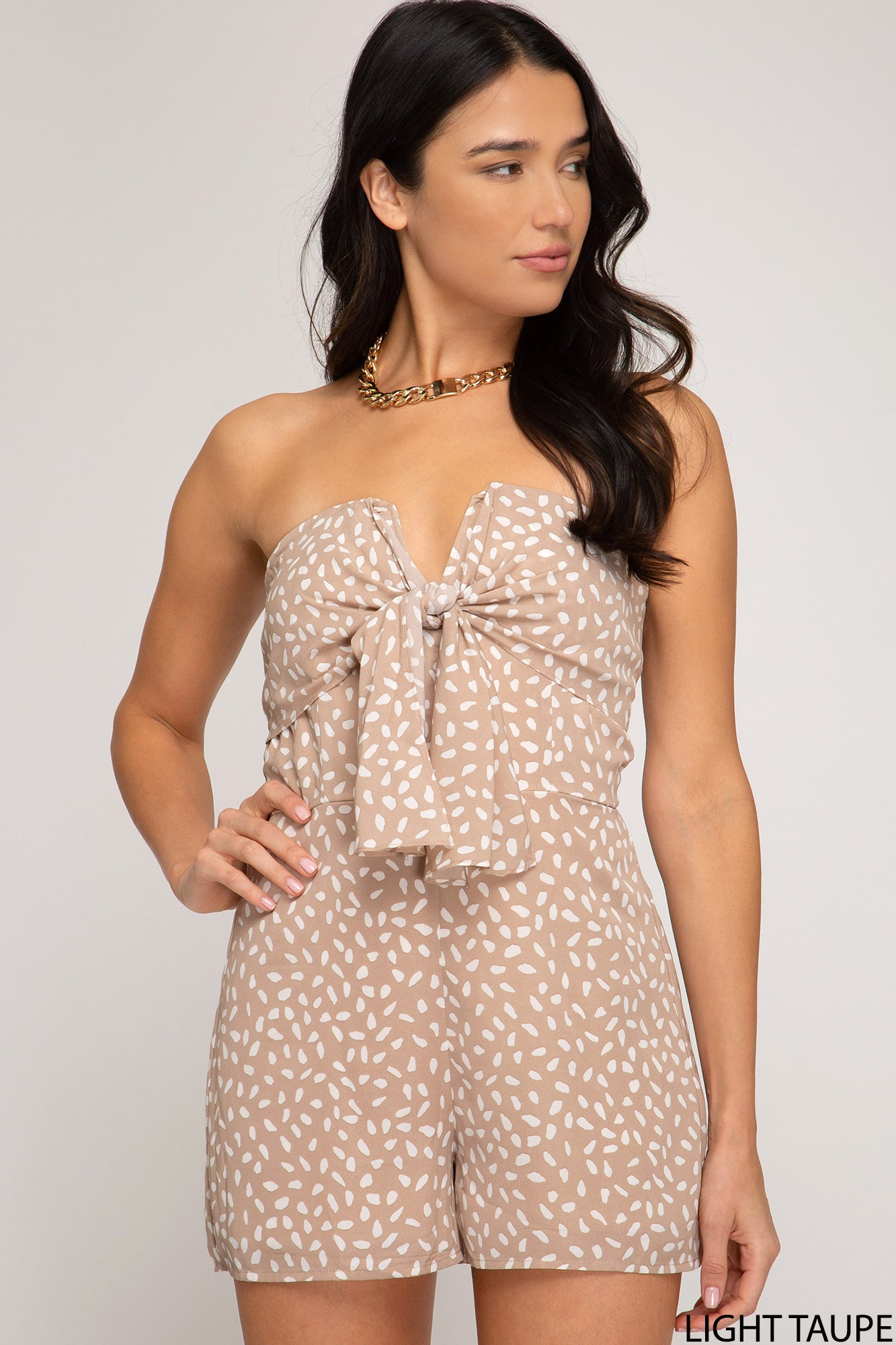 Taupe Tube Top Romper