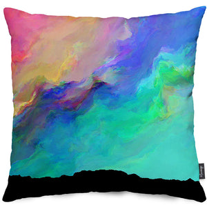 Night Aurora Throw Pillow