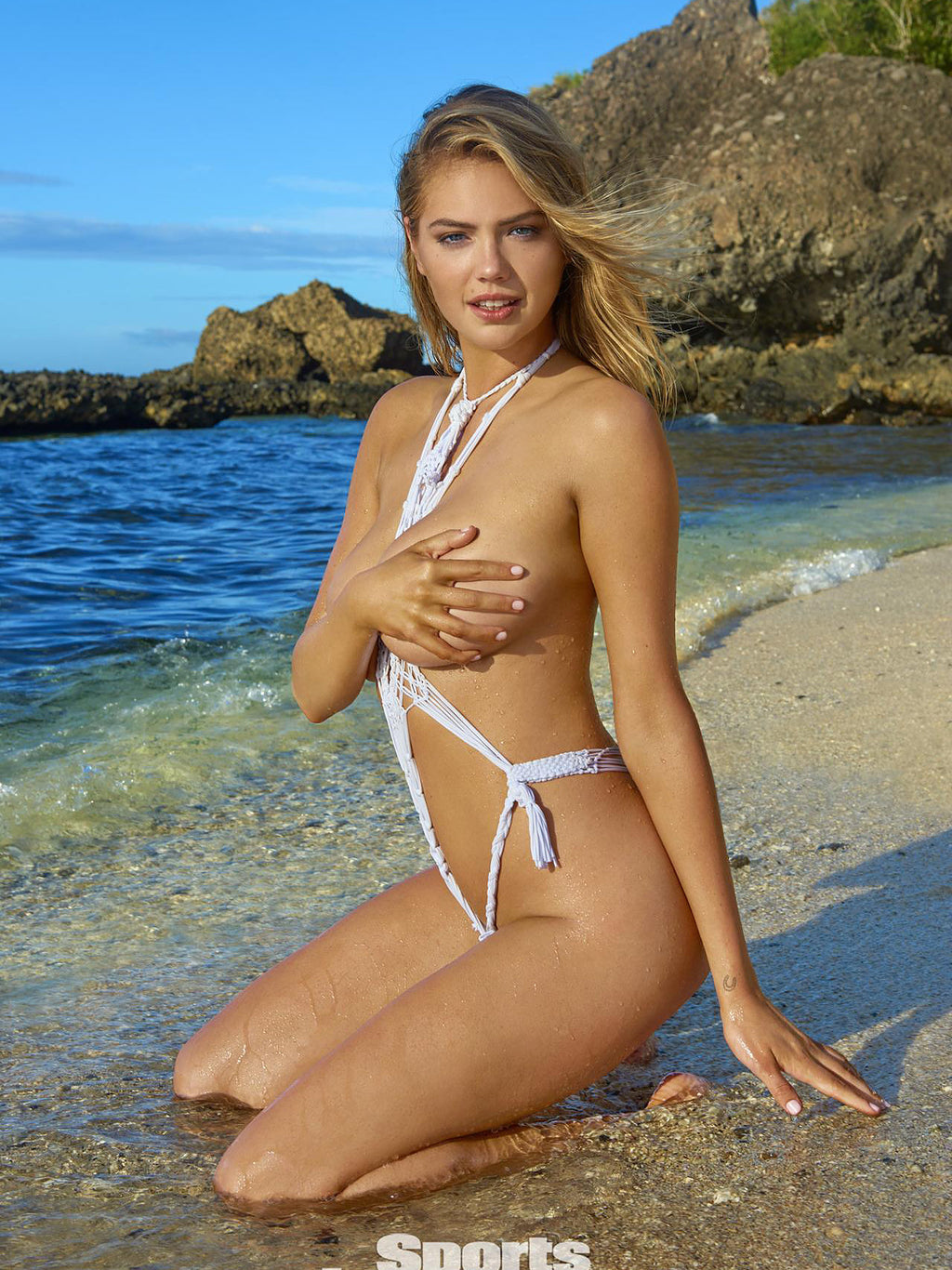 Kate Upton Intimates - Macrame looks awesome on the beach!