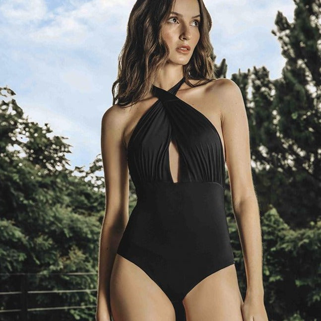 Camille One Piece - Black / Nude