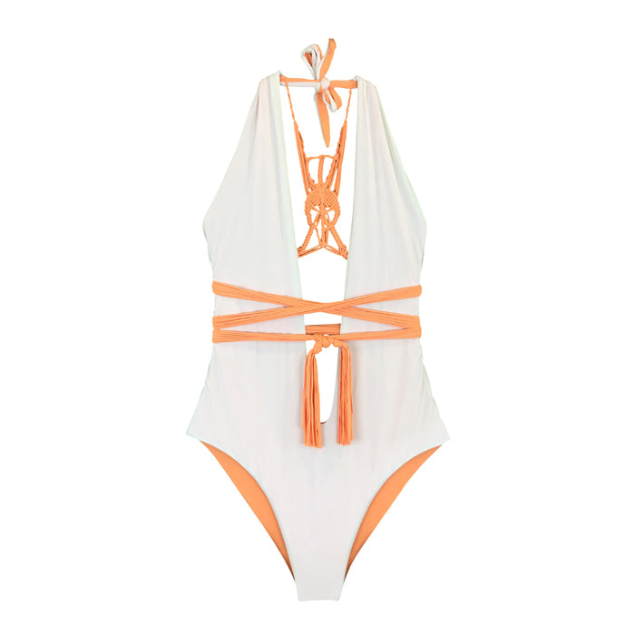 Bia One Piece - naranja / blanco roto