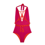 Camille One Piece - poppy / fuchsia