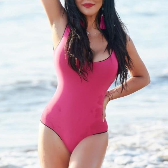 Andy One Piece - Black / Pink
