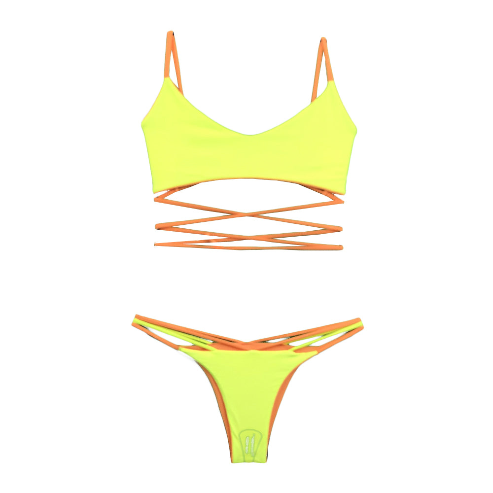 Mita Bikini Set - orange / yellow