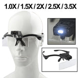 Magnifier Glasses with LED Lights Hands Free