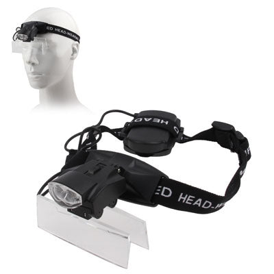 Soft Headband LED Lighted Magnifier With Multiple Lenses