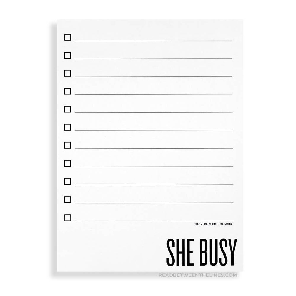 Read Between The Lines® - She Busy Notepad by RBTL®