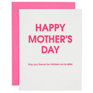 Chez Gagné - Happy Mother's Day Mistaken Sister Letterpress Card