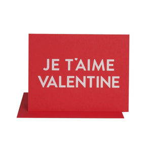 The Social Type - Je T'aime Valentine Card