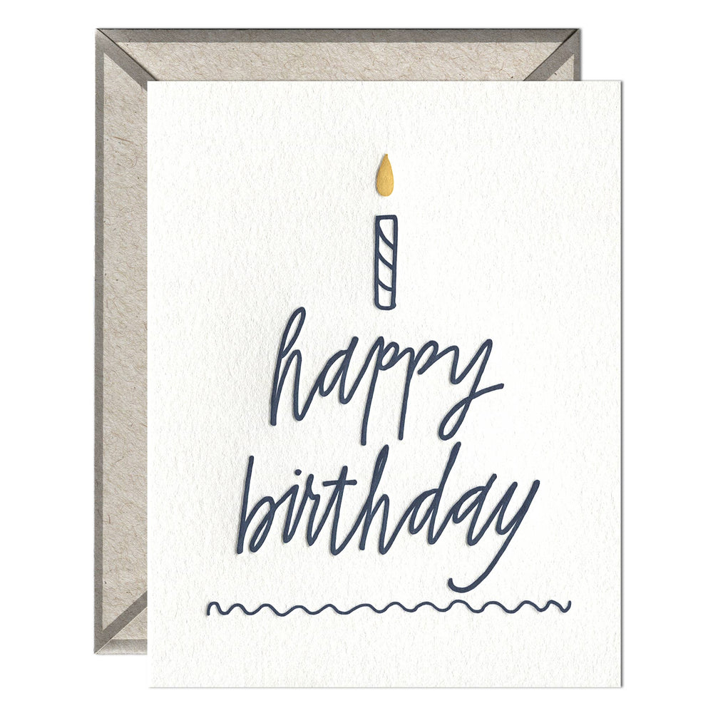 INK MEETS PAPER - Happy Birthday Cake - greeting card