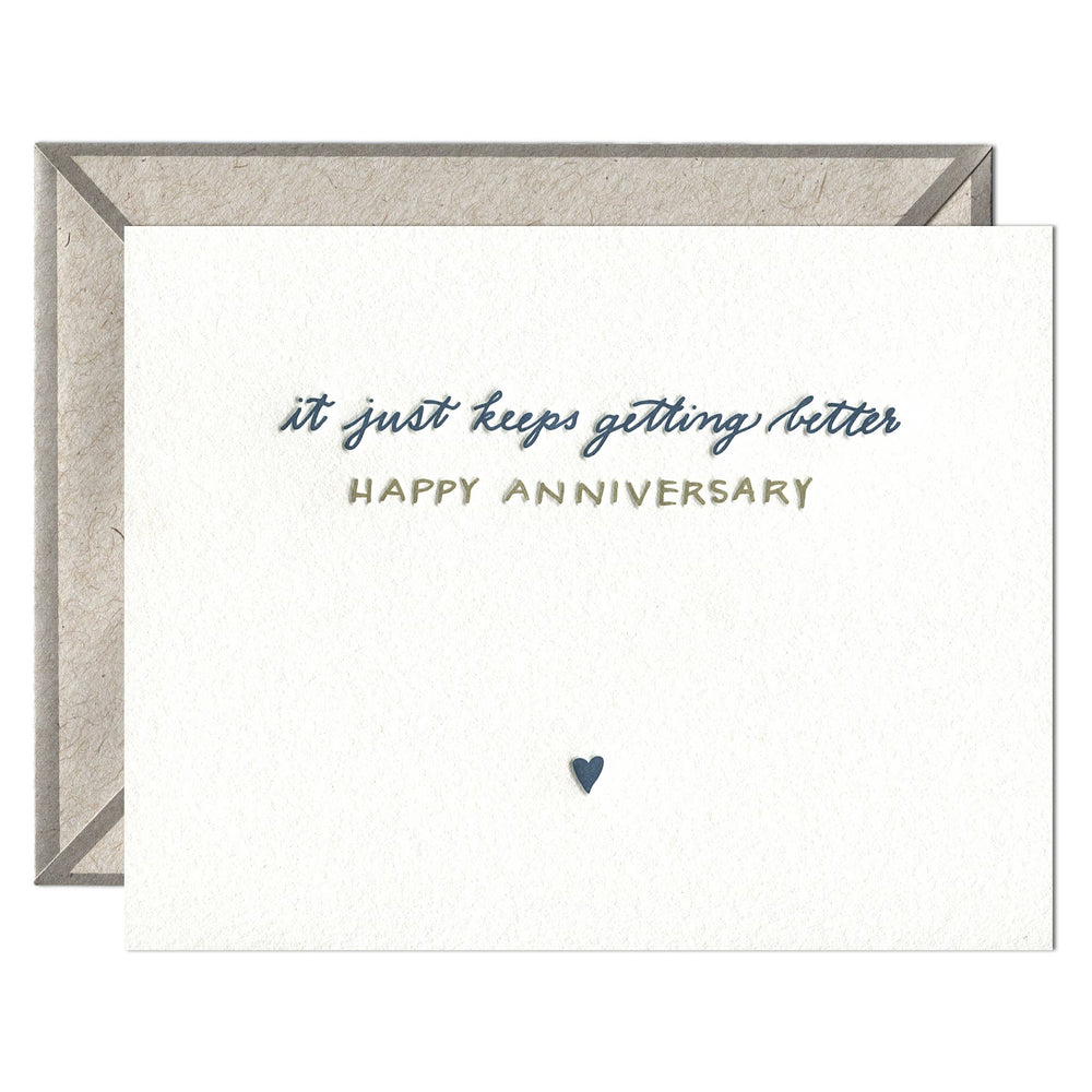 INK MEETS PAPER - Happy Anniversary - greeting card