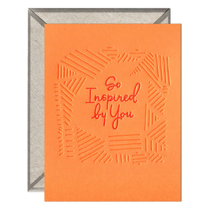 INK MEETS PAPER - So Inspired - greeting card