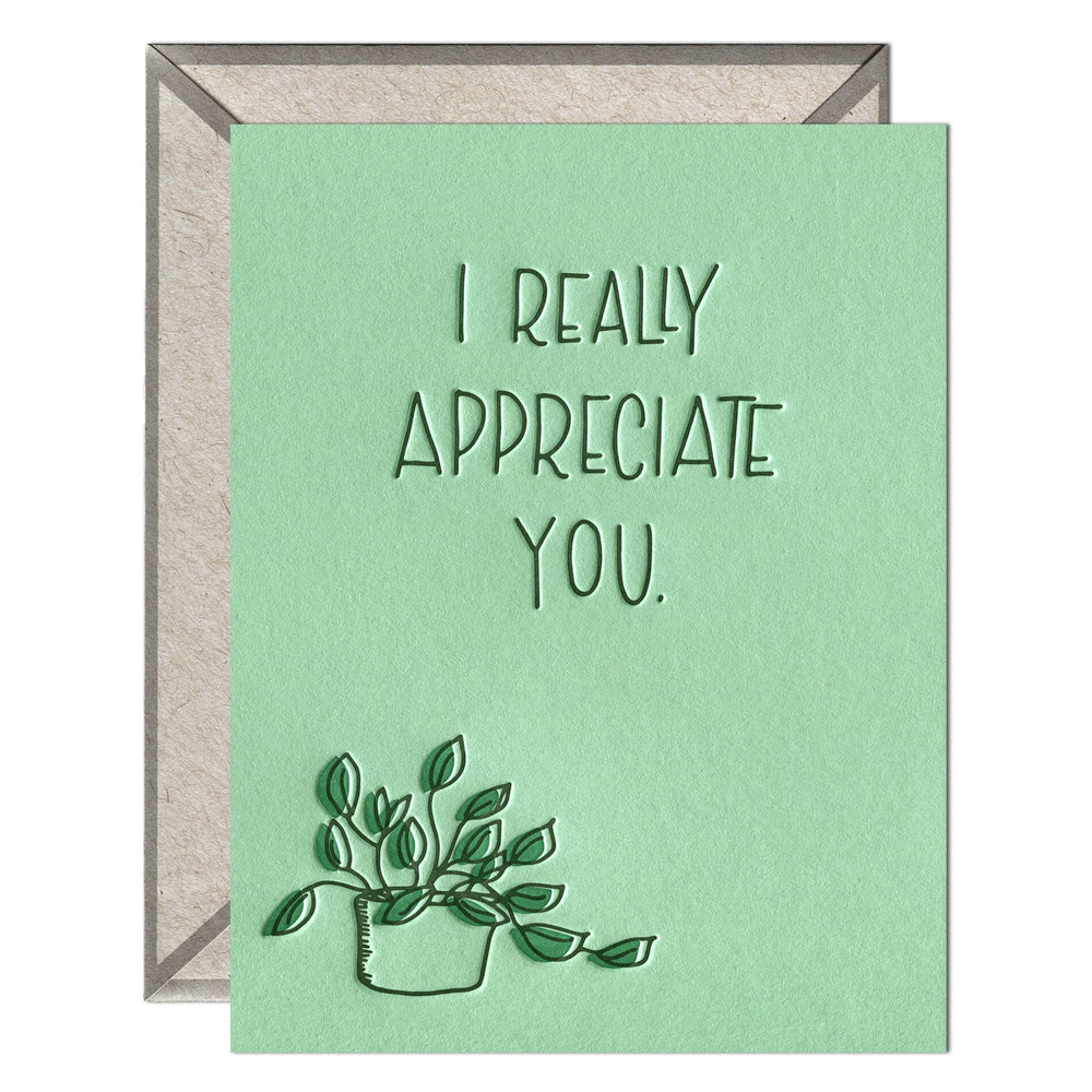 INK MEETS PAPER - I Appreciate You - greeting card