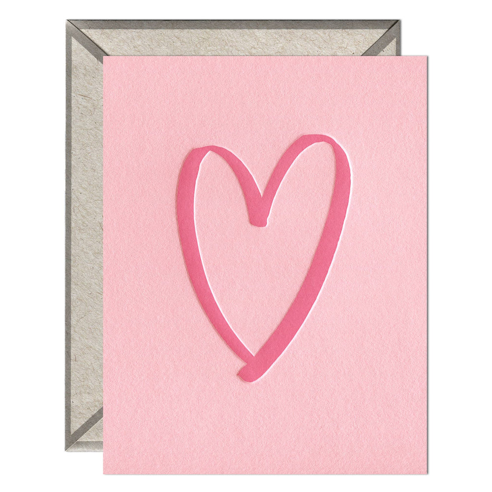 INK MEETS PAPER - Brushed Heart - greeting card