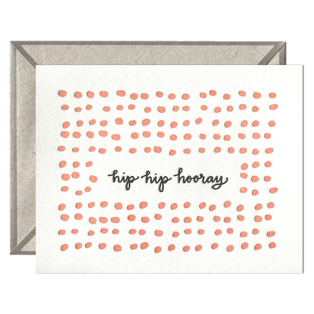 INK MEETS PAPER - Hip Hip Hooray - greeting card