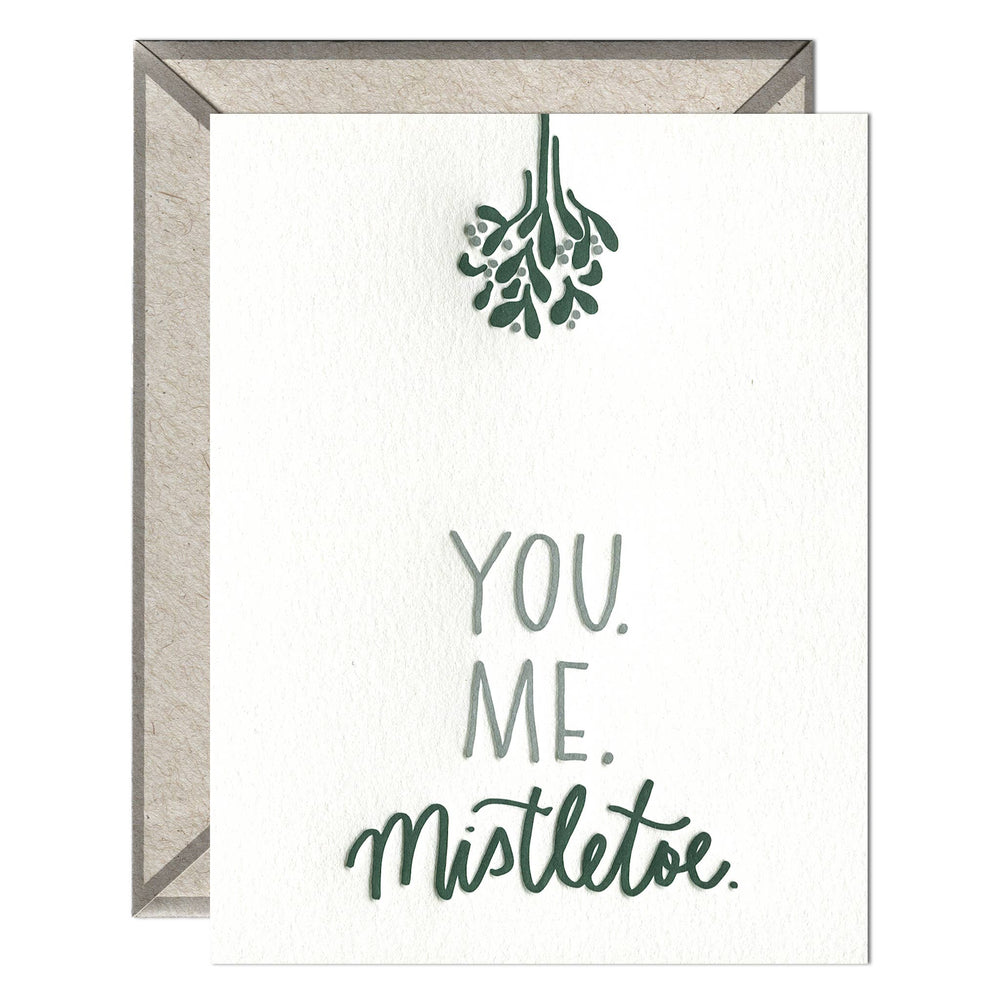 INK MEETS PAPER - You. Me. Mistletoe. - greeting card