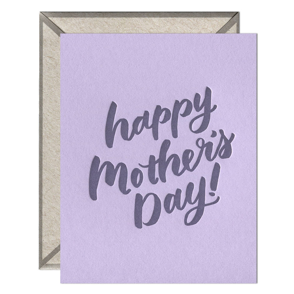 INK MEETS PAPER - Mother's Day Script - greeting card
