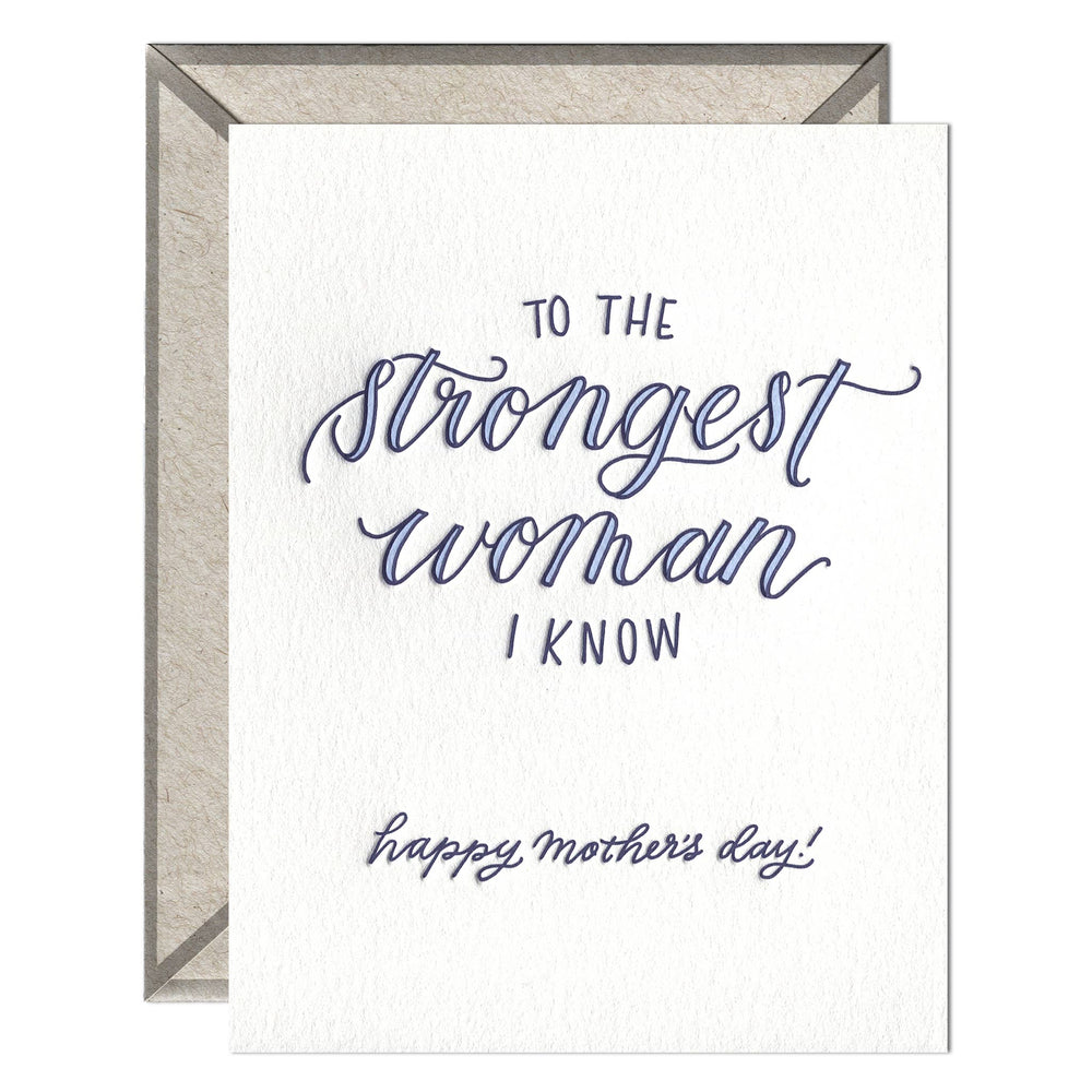 INK MEETS PAPER - Strongest Woman I Know - greeting card