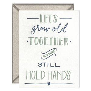 INK MEETS PAPER - Still Hold Hands - greeting card
