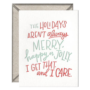 INK MEETS PAPER - Holidays— I Care - greeting card