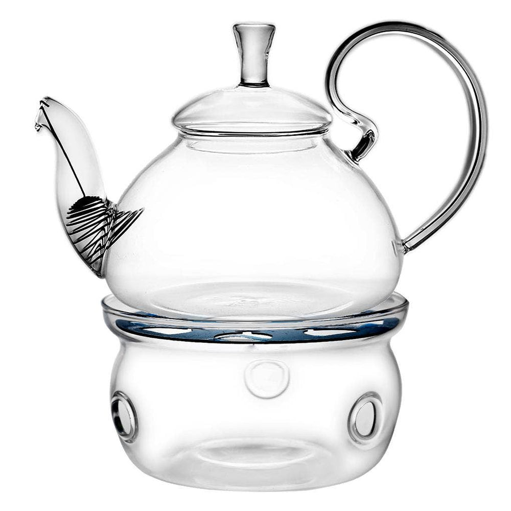 Flower Pot Tea Company - Elegant Glass Teapot and Warmer Combo