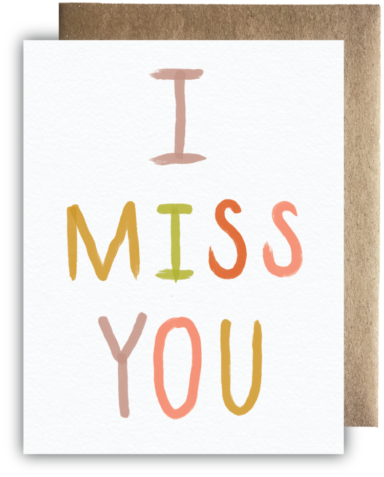 Maija Rebecca Hand Drawn - Bright & Bold I Miss You