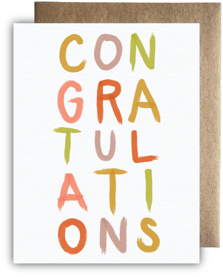 Maija Rebecca Hand Drawn - Bright & Bold Congratulations