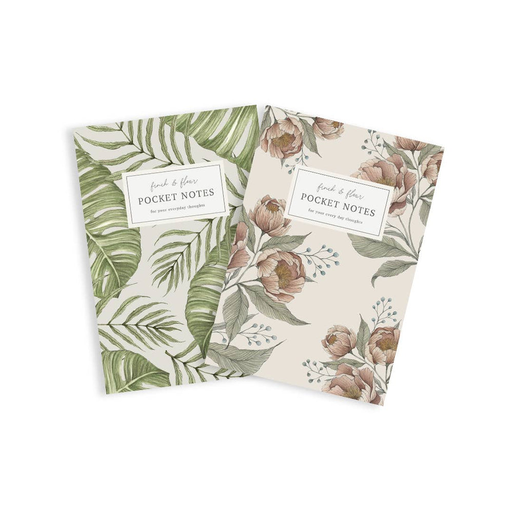 Finch & Fleur - Pocket Notebook Set - Tropical Bundle + Garden Peonies
