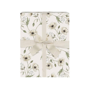 Finch & Fleur - Wrapping Sheets Roll - White Poppies