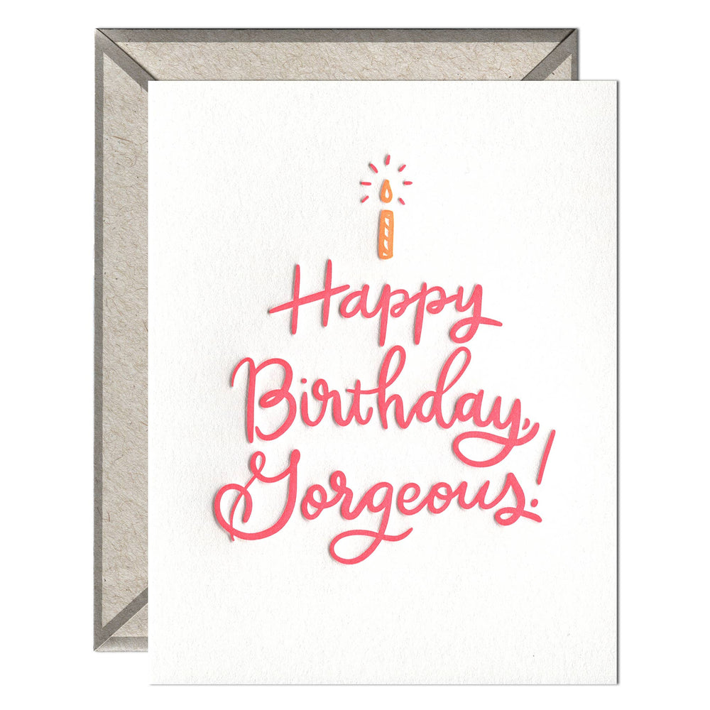 INK MEETS PAPER - Happy Birthday, Gorgeous - greeting card