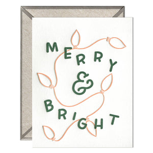 INK MEETS PAPER - Merry & Bright Lights - greeting card