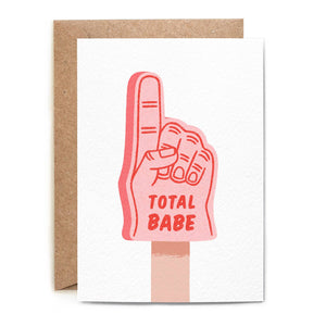 Folio - Total Babe Foam Finger Card