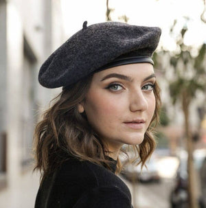 French Felt Beret - Grey