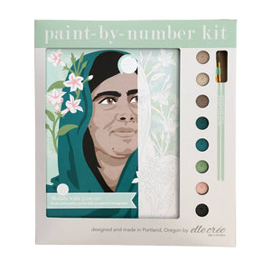 elle crée (she creates) - Malala with Jasmine Paint-by-Number Kit