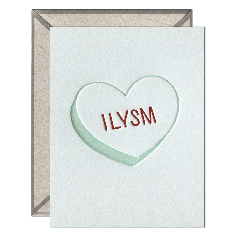 INK MEETS PAPER - ILYSM Heart - greeting card