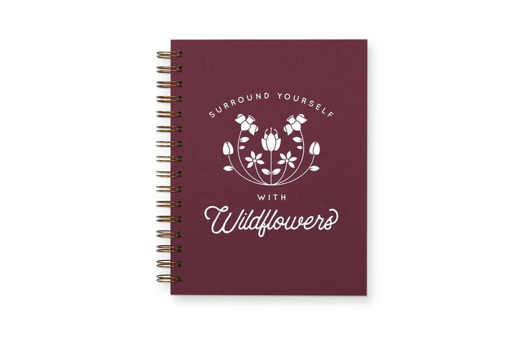 Ruff House Art - Wildflowers Journal : Lined Notebook
