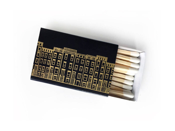 Studio Portmanteau - Cozy Village Matchbox - Black Box