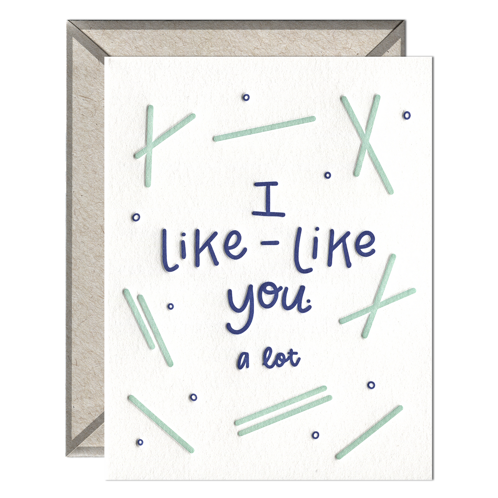 INK MEETS PAPER - I Like Like You - greeting card
